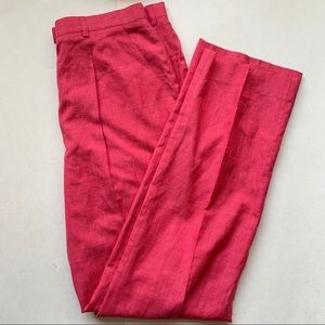 Escada silk/linen straight leg loose fitting pant